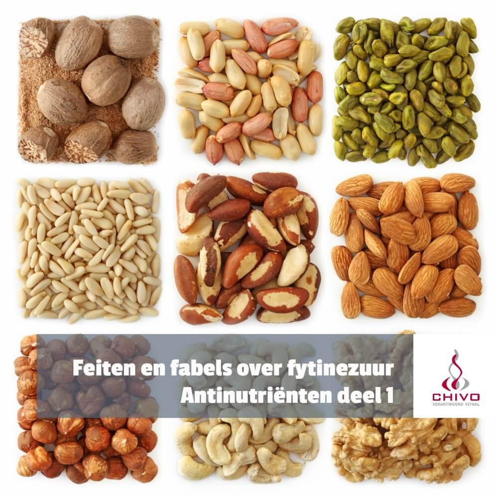 Fytinezuur remt de absorptie van mineralen, is fytine een antinutriënt
