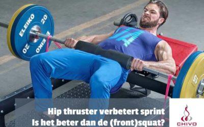 Zijn hip thrusters beter in het verbeteren van de sprint prestaties dan de squat?