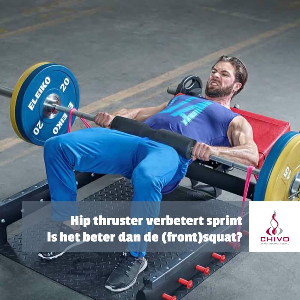 Hip thrusters beter voor sprinters dan front squats