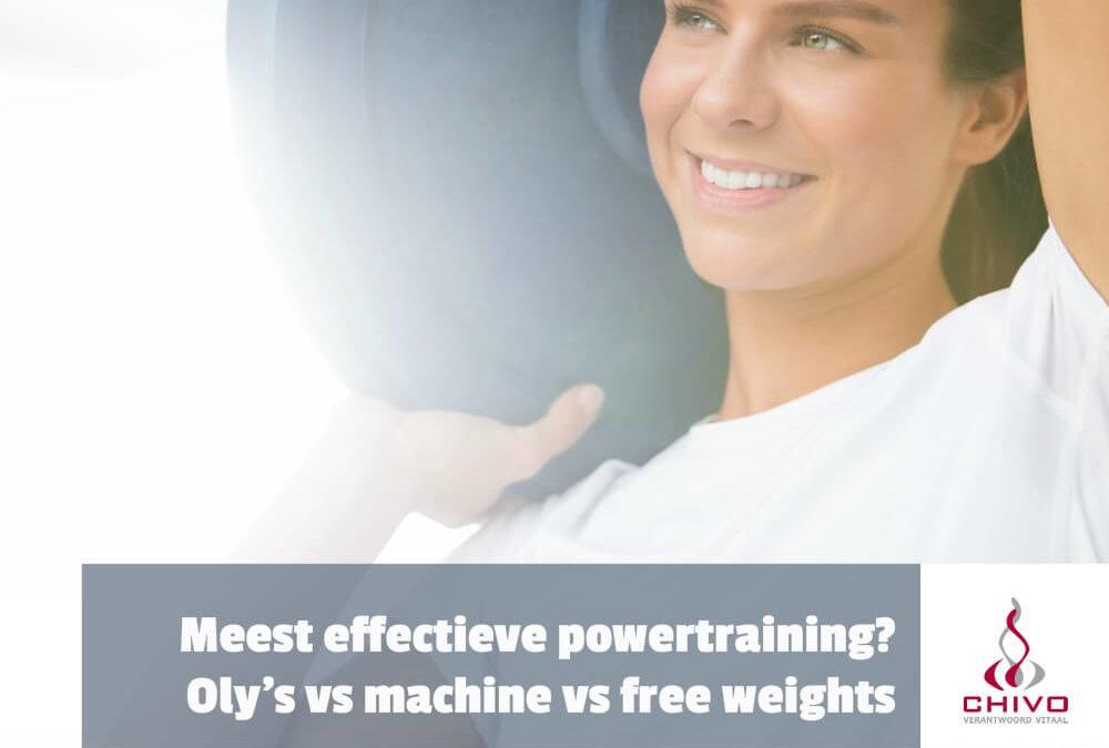 Meest effectieve powertraining? Olympische lift, machines of free weights?
