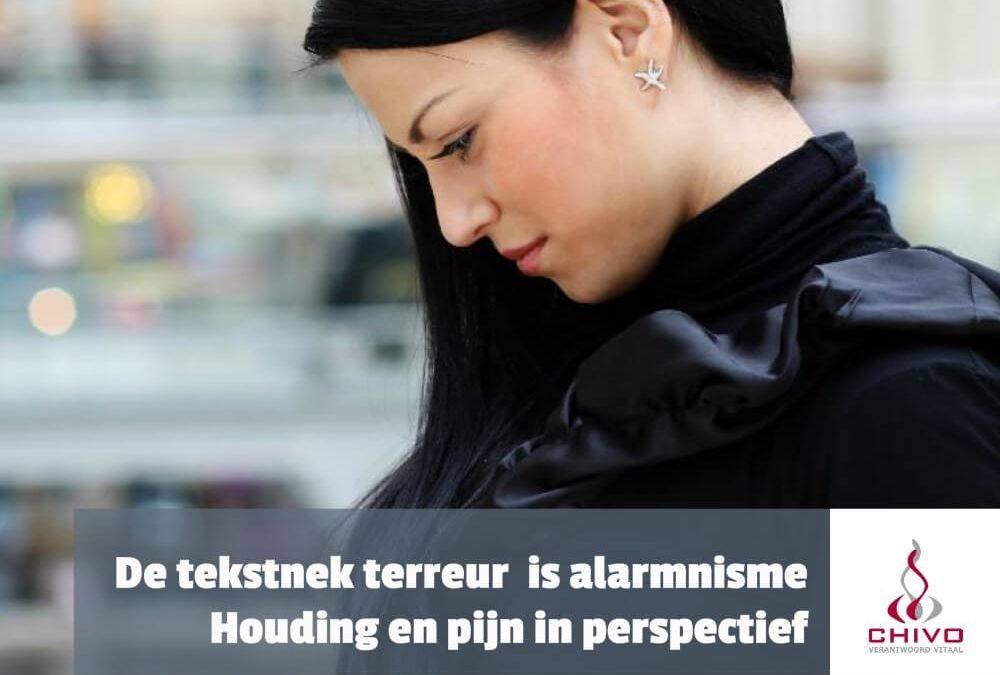 De tekstnek terreur is alarmnisme