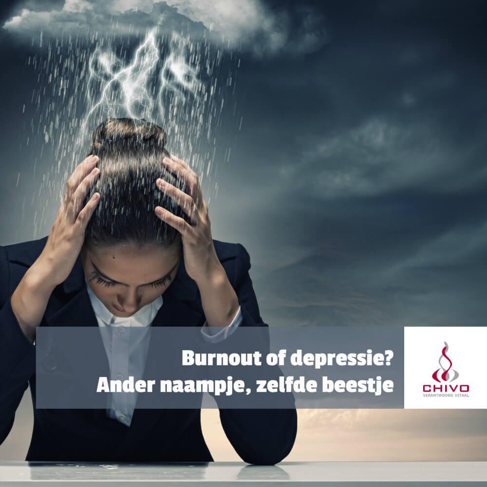 Burnout of depressie? Andere naam, maar hetzelfde beestje