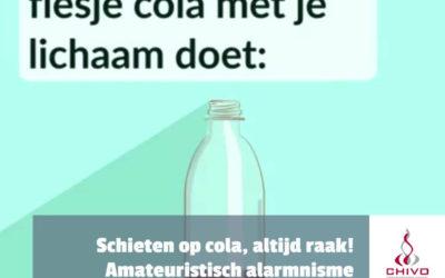 Schieten op cola, altijd raak!