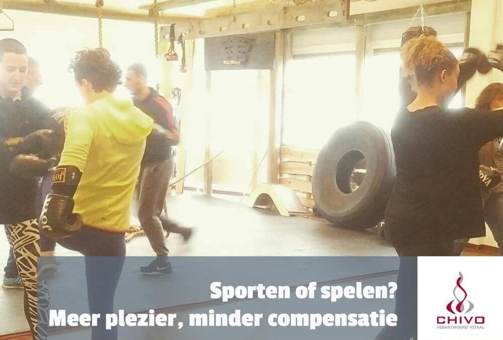 Sporten of spelen? Meer plezier, minder compensatie!