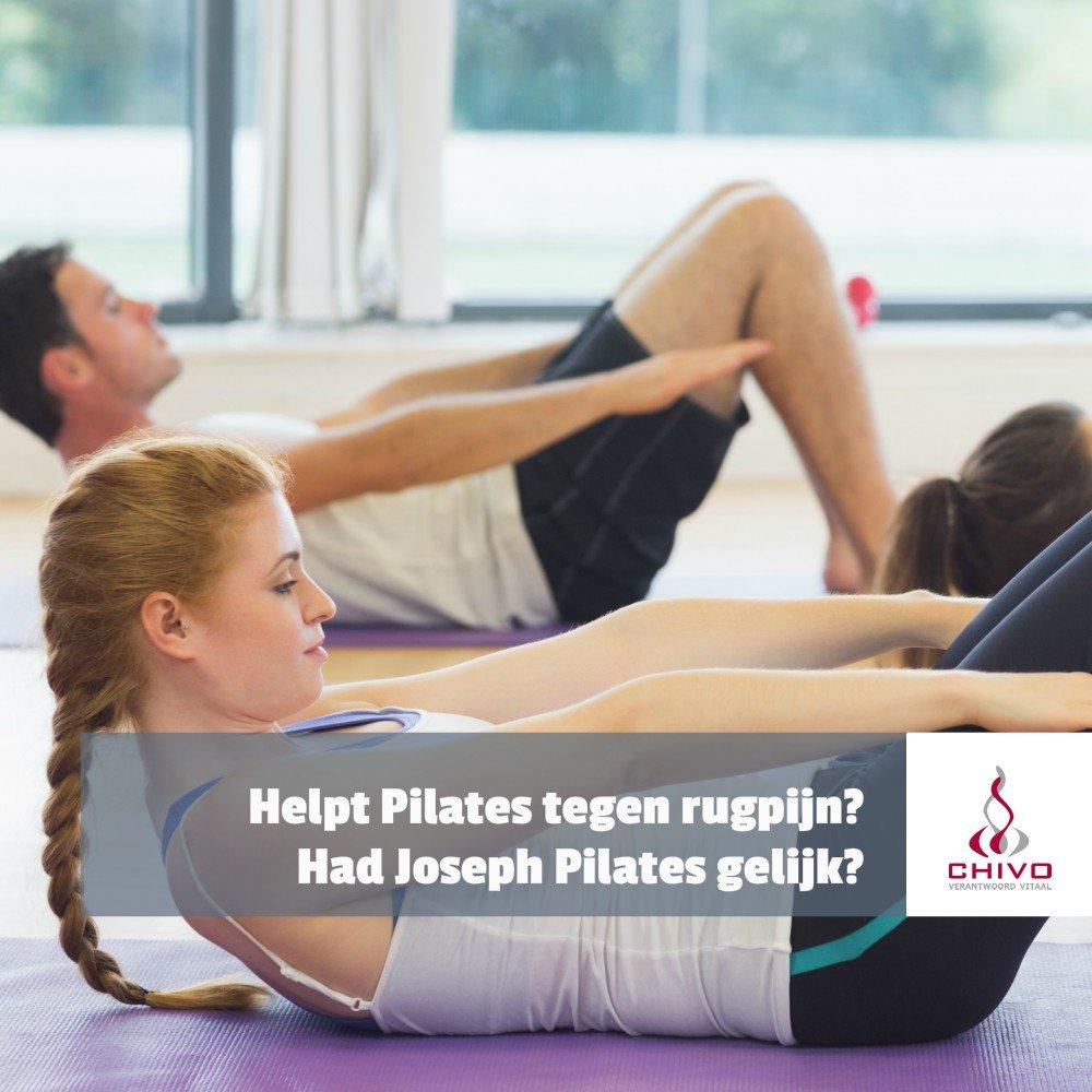 Helpt Pilates wel tegen rugpijn?