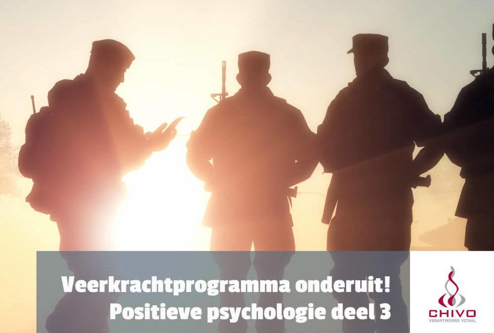 Positieve psychologie deel 3: Veerkrachtprogramma Amerikaanse soldaat faalt