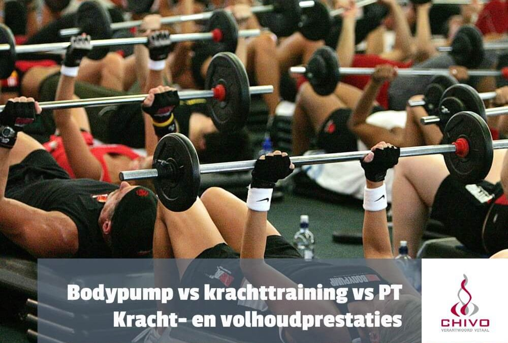 Bodypump vs krachttraining vs personal training