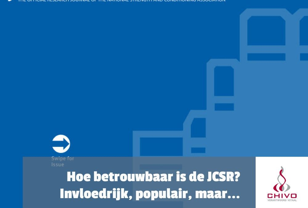 Hoe betrouwbaar is de Journal of Strength & Conditioning Research (JSCR)