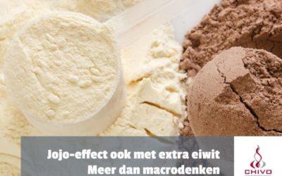 Extra eiwit beschermt niet tegen jojo-effect