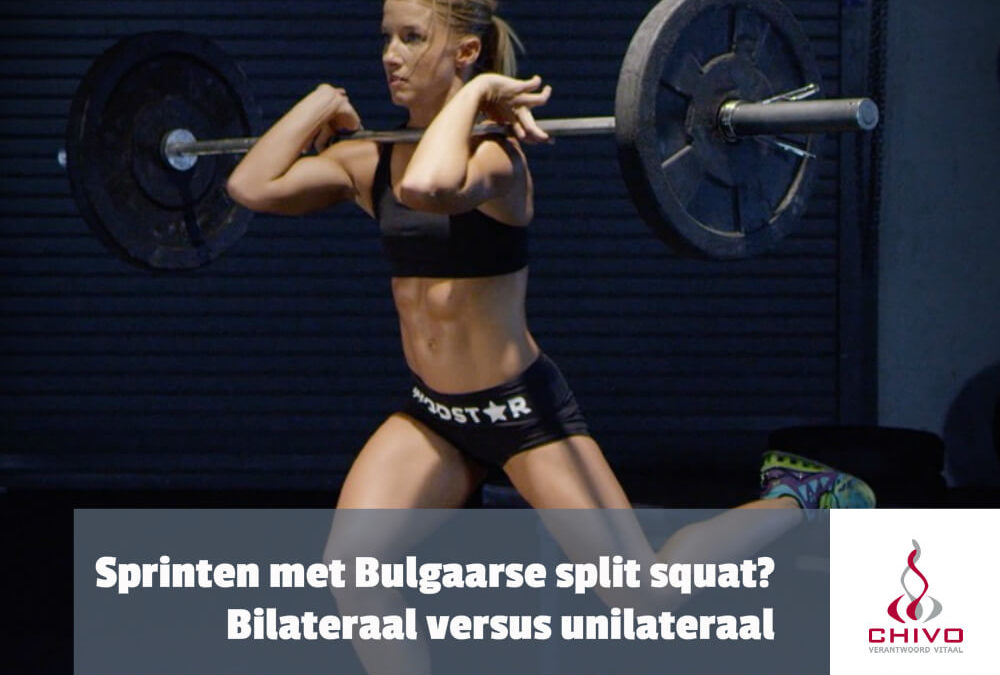 Harder sprinten met een bulgaarse splitsquat?