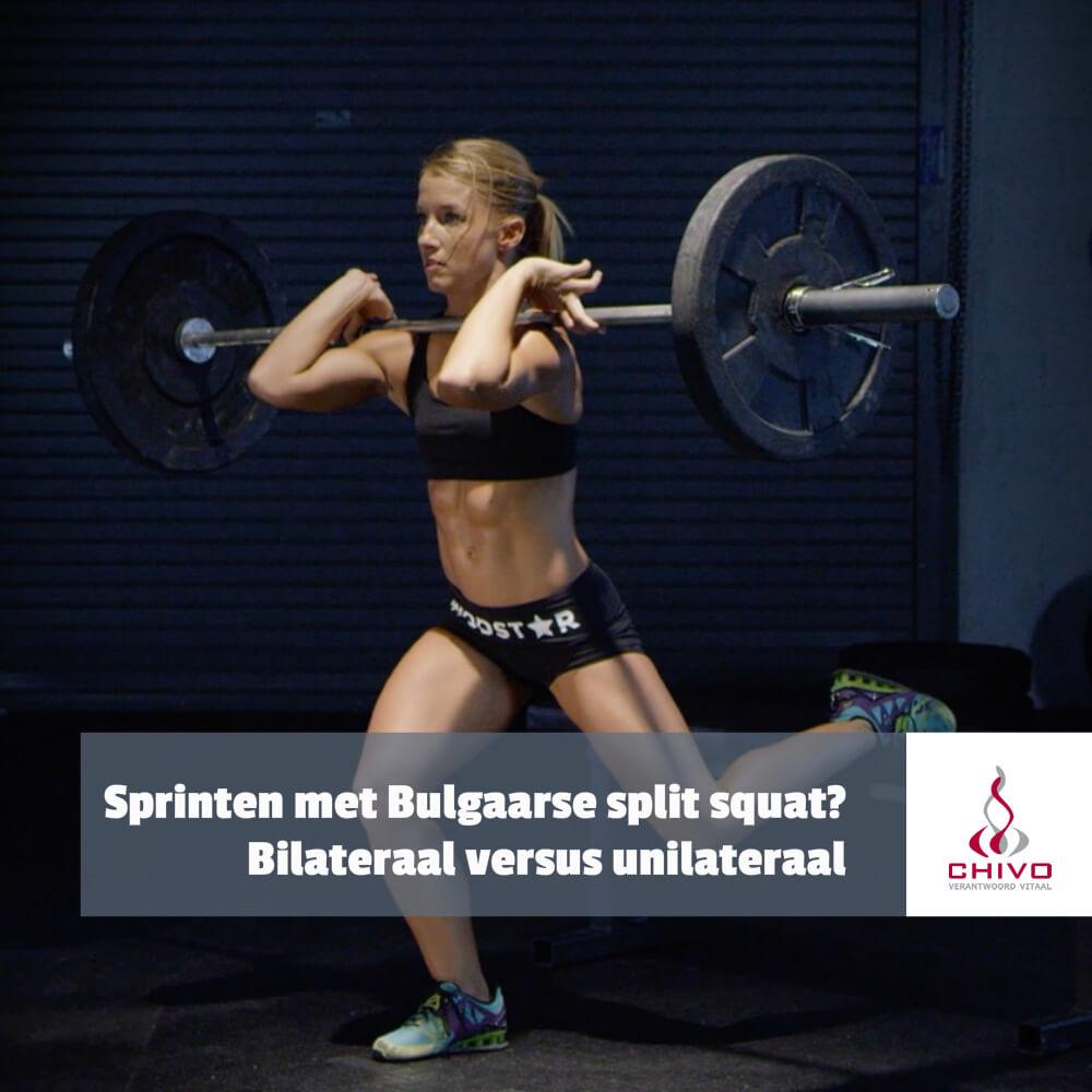 Sprinten doe je met 1 been gelijkertijd, moet je dan ook maar 1 been gelijkertijd trainen?