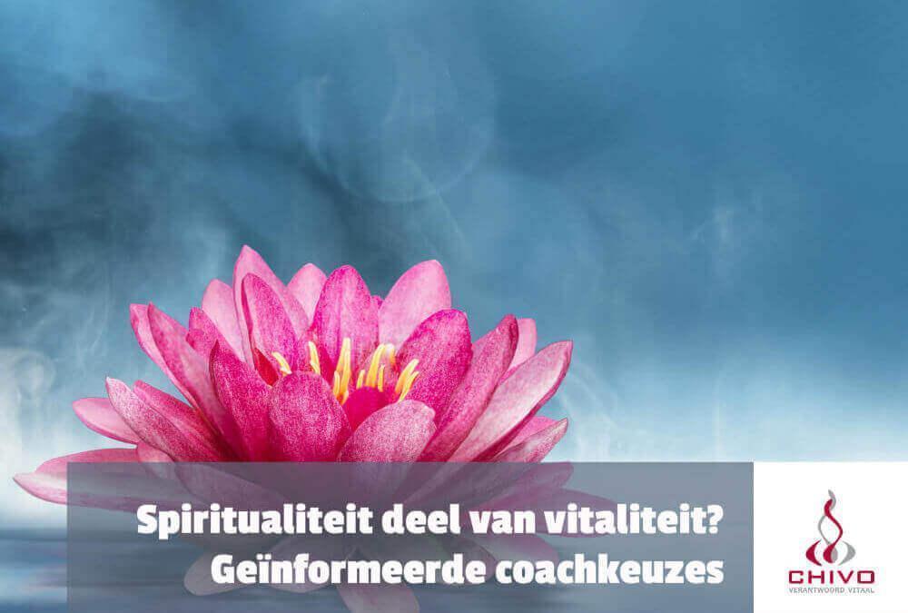 Is spiritualiteit onderdeel van vitaliteit?