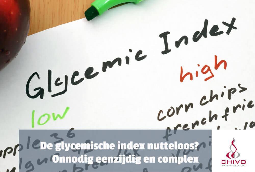 De glycemische index (GI) is nutteloos?