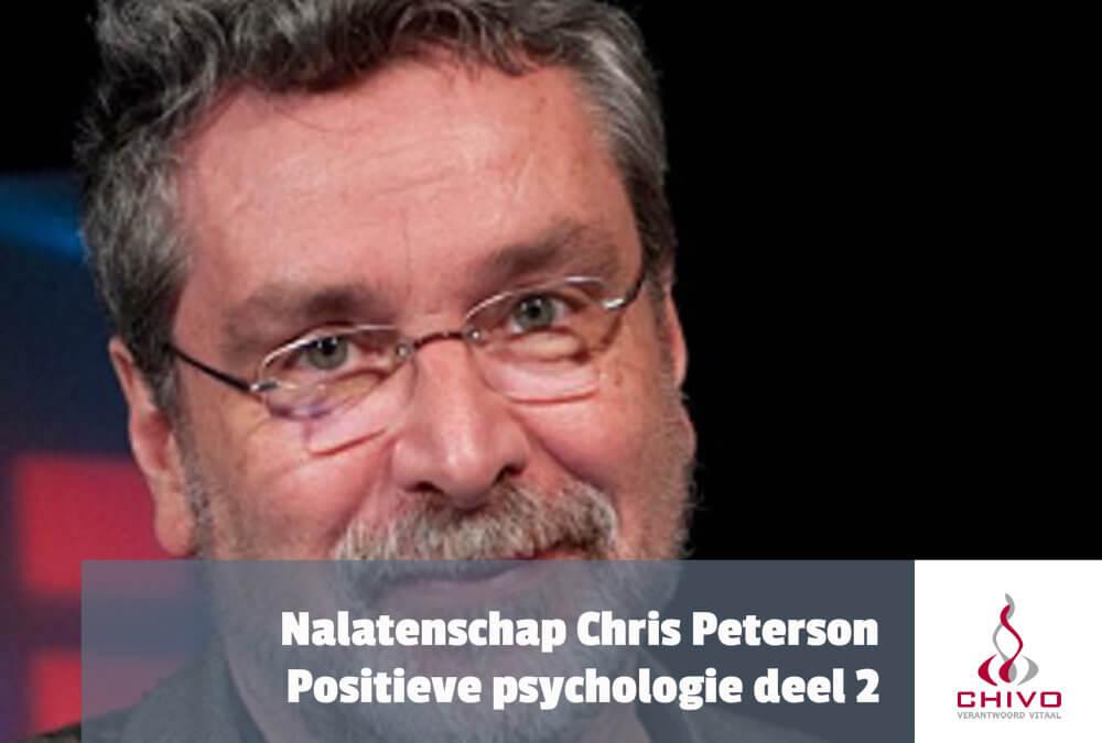 Positieve psychologie deel 2: De nalatenschap van Chris Peterson