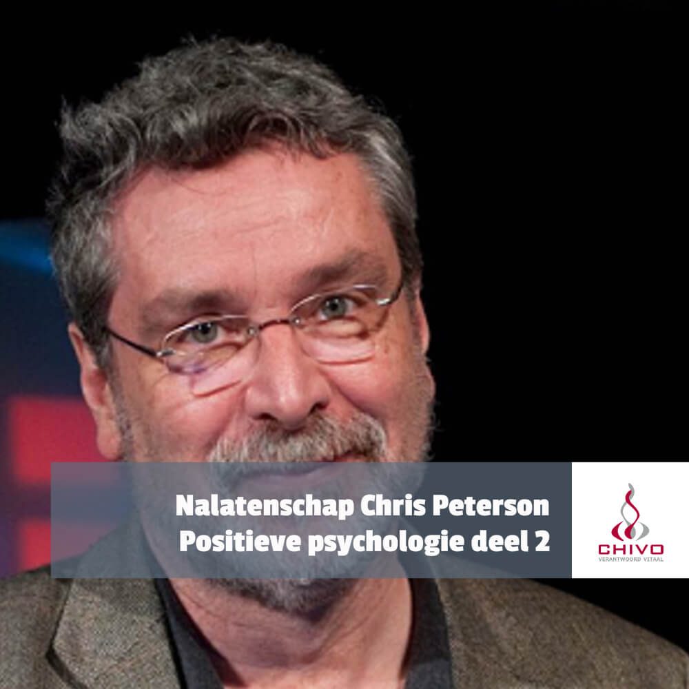 De wijlen dr. Chris Peterson, een van de grondleggers van de positieve psychologie