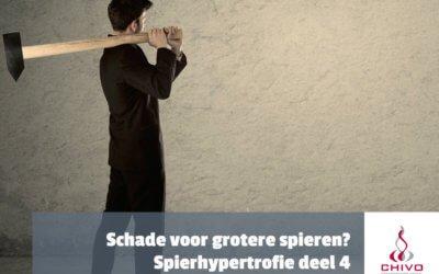 Spierhypertrofie deel 4: Meer schade, meer spiergroei?