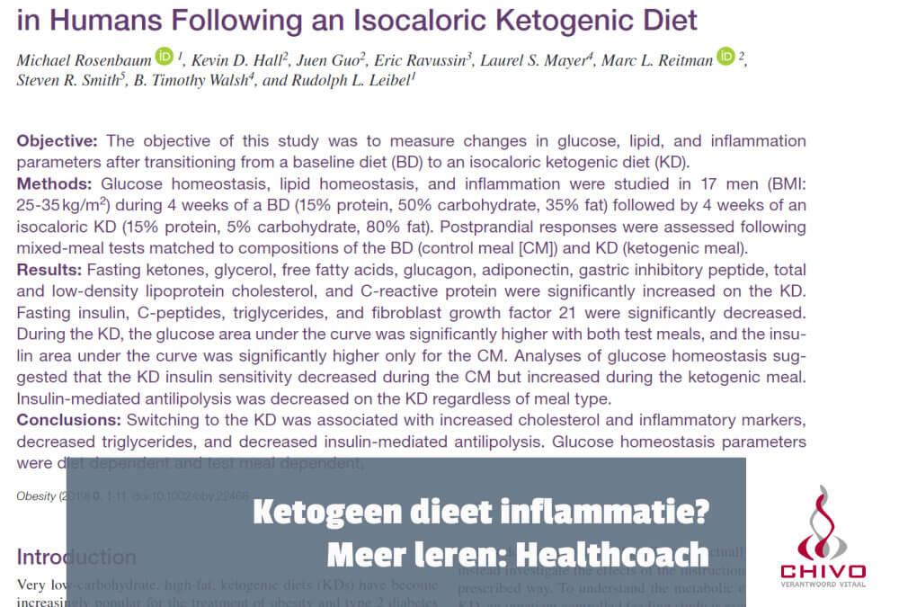 Clip: Neemt inflammatie toe bij het ketogeen dieet?