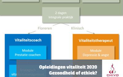 Nieuwe structuur opleidingen Vitaliteit 2020